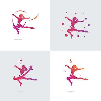 Zestaw szablonów projektu logo gimnastyka