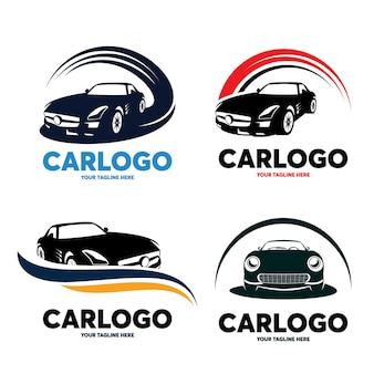 Zestaw szablonów projektu logo samochodu