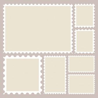 Zestaw szablonów puste znaczki pocztowe