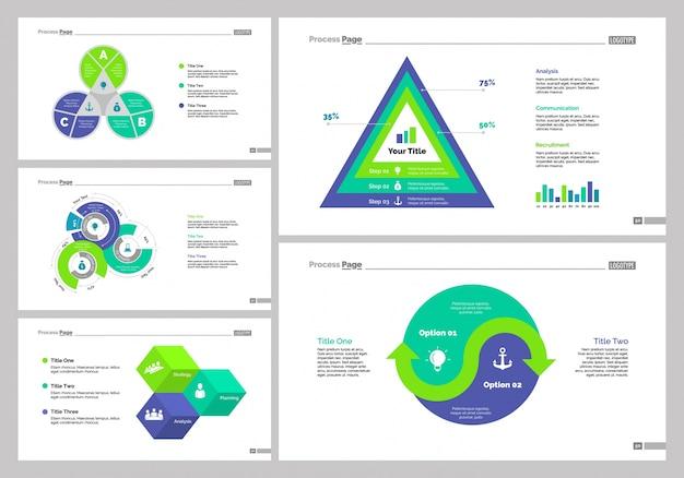 Zestaw szablonów slajdów analytics