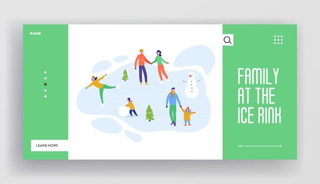 Zestaw szablonów stron docelowych ferii zimowych. wesołych świąt i szczęśliwego nowego roku układ strony internetowej z postaciami ludzi, choinkami, saniami. indywidualna impreza znajomych w witrynie mobilnej.