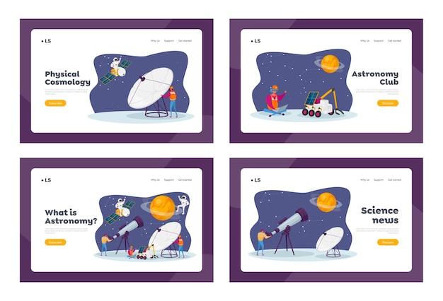Zestaw szablonów strony docelowej astronomii nauki