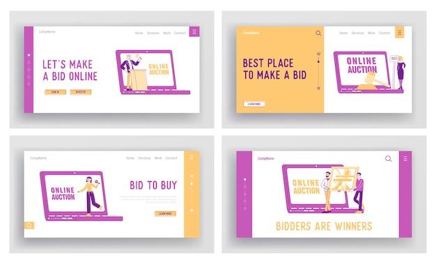 Zestaw szablonów strony docelowej aukcji online
