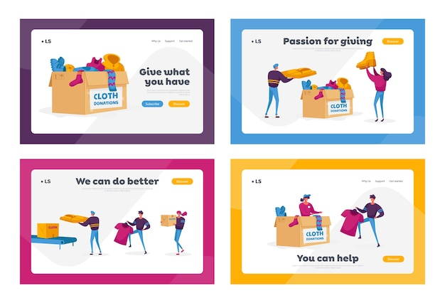 Zestaw szablonów strony docelowej darowizn i charytatywnych