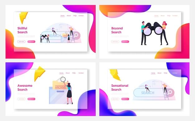 Zestaw szablonów strony docelowej wyszukiwania informacji