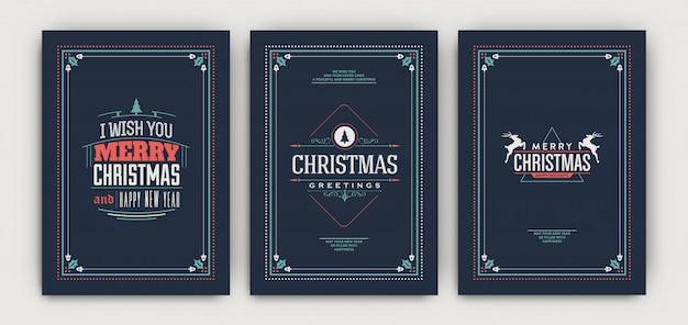 Zestaw szablonów świątecznych klasycznych ulotki