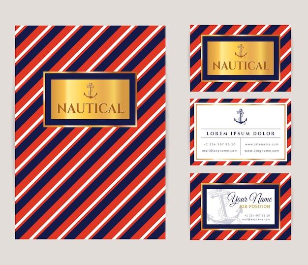 Zestaw szablonów tożsamości korporacyjnej z logo kotwicy
