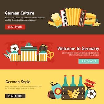 Zestaw szablonów transparent niemcy
