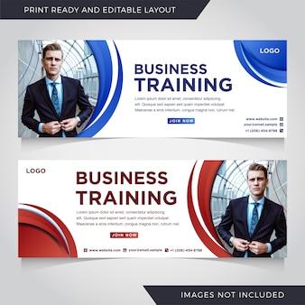 Zestaw szablonów transparent szkolenia biznesowe