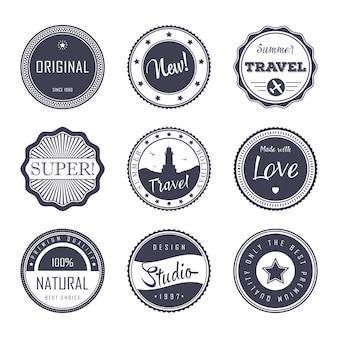 Zestaw szablonów vintage etykiety