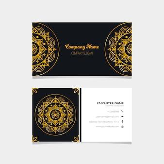 Zestaw szablonów wizytówek mandali