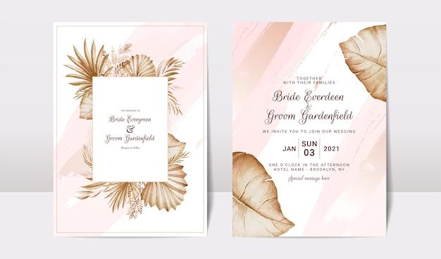 Zestaw szablonów zaproszenia ślubne