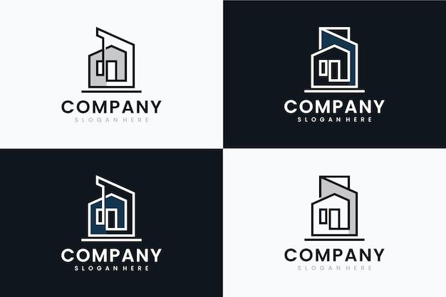 Zestaw szablonu architekta, inspiracja do projektowania logo