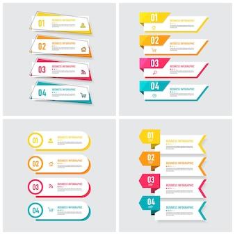 Zestaw szablonu elementu infografiki