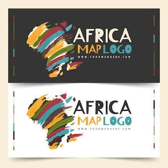 Zestaw szablonu logo afryki