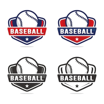 Zestaw szablonu logo baseball