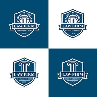 Zestaw szablonu logo firmy prawniczej