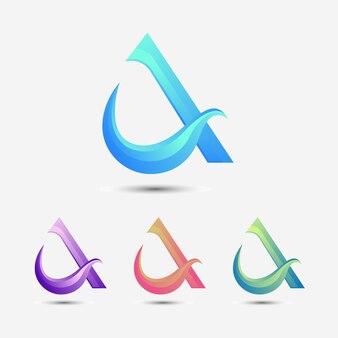 Zestaw szablonu logo gradientu.