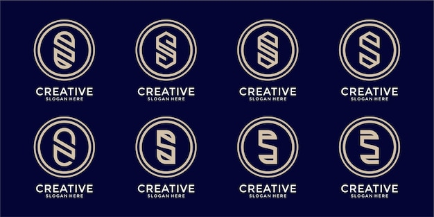 Zestaw szablonu logo kreatywnej litery s