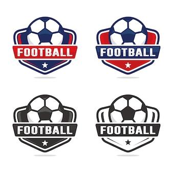 Zestaw Szablonu Logo Piłki Nożnej Premium Wektorów