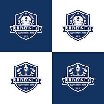 Zestaw szablonu logo uniwersytetu