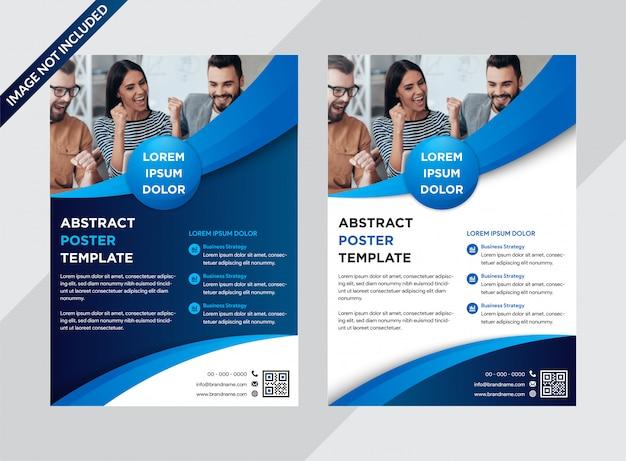 Zestaw szablonu plakat streszczenie biznes