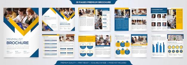 Zestaw szablonu projektu biznes broszura