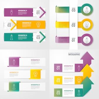 Zestaw szablonu projektu infografiki biznesowych do prezentacji.