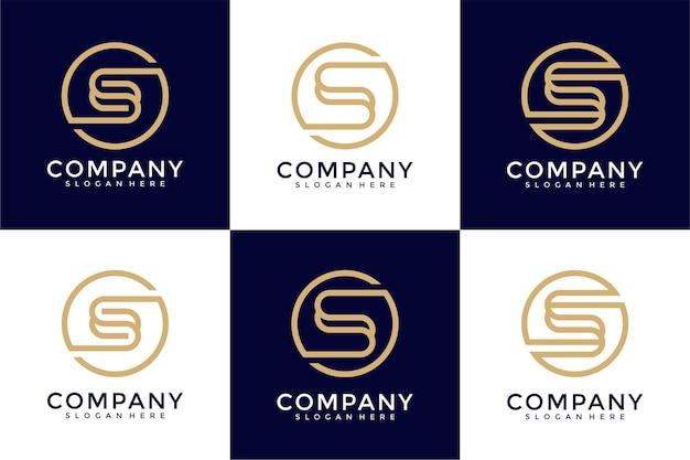 Zestaw szablonu projektu logo monogram litery s