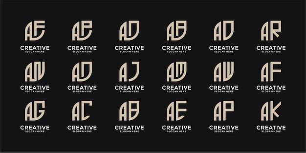 Zestaw szablonu projektu logo monogramgram