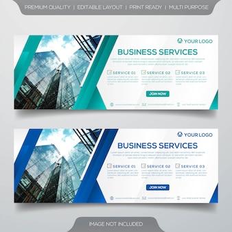 Zestaw szablonu transparent firmy
