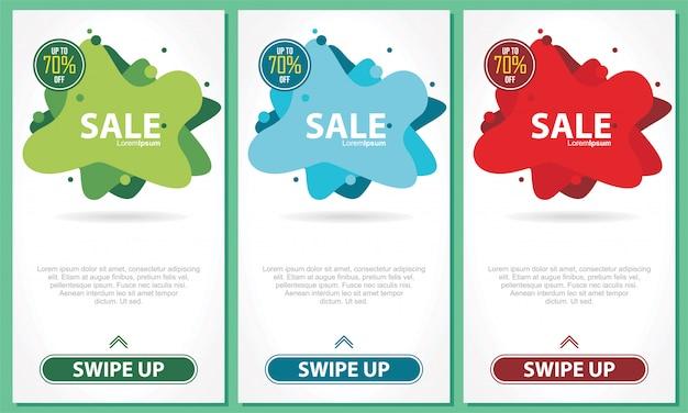 Zestaw szablonu transparent sprzedaż