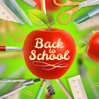 Zestaw szablonu witamy z powrotem do szkoły.