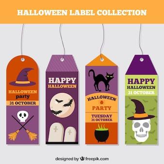 Zestaw szczę å> liwy halloween etykiety w på,askim stylu