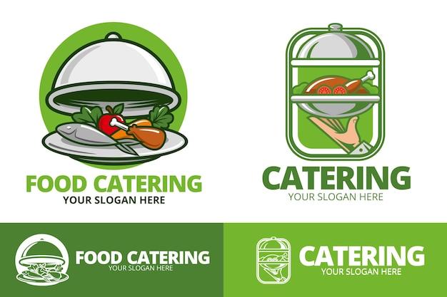Zestaw szczegółowych logo gastronomicznych