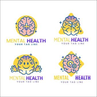 Zestaw szczegółowych logo zdrowia psychicznego