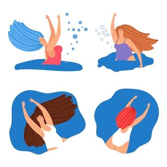 Zestaw szczęśliwy pływanie kobiet