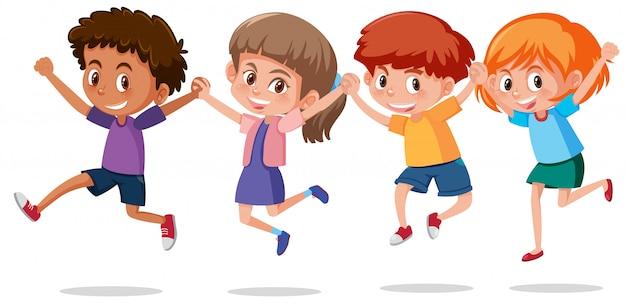 Zestaw szczęśliwych dzieci