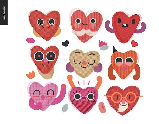 Zestaw szczęśliwych serc