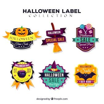 Zestaw sześciu halloween sprzedaży naklejek