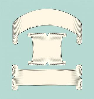 Zestaw szkiców banery wstążki