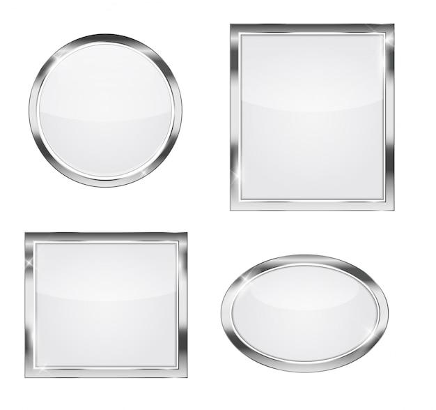 Zestaw szklanej przezroczystej ramki