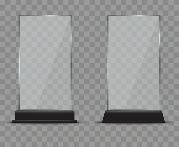 Zestaw szklanych talerzy