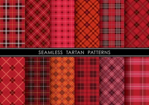 Zestaw szkockiej kraty w kratkę, powtarzalny w poziomie i pionie.