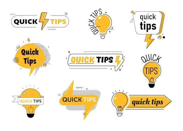 Zestaw szybkich wskazówek dla lub post na blogu