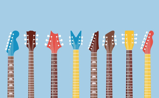 Zestaw szyjek i główek gitar