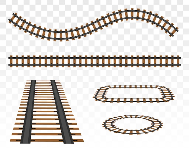 Zestaw szyn kolejowych