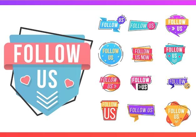 Zestaw tagów śledź nas