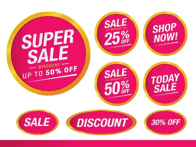 Zestaw tagów sprzedaży i oferty specjalnej