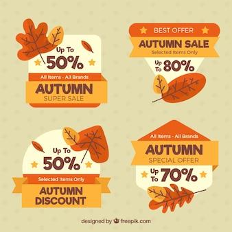 Zestaw tagów sprzedaży jesienią